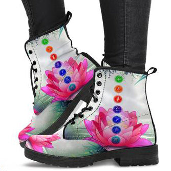 Lotus and Chakra Women's Leather Boots
