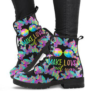 Make Love Not War Women's Leather Boots