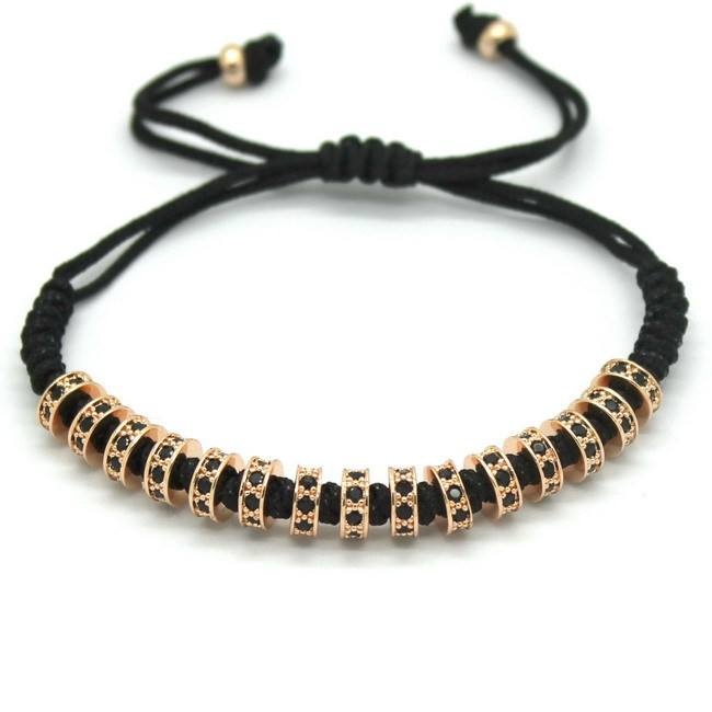18K Rose Gold, Gold, Silver & Black Plated Macrame Bracelets. - Hilltop Apparel - 7