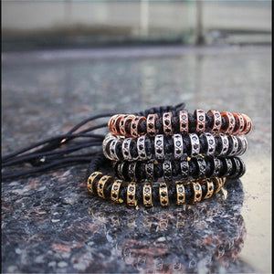 18K Rose Gold, Gold, Silver & Black Plated Macrame Bracelets. - Hilltop Apparel - 1