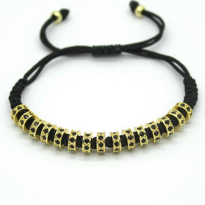 18K Rose Gold, Gold, Silver & Black Plated Macrame Bracelets. - Hilltop Apparel - 8