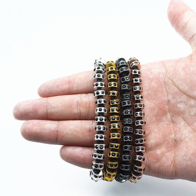 18K Rose Gold, Gold, Silver & Black Plated Macrame Bracelets. - Hilltop Apparel - 3