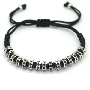 18K Rose Gold, Gold, Silver & Black Plated Macrame Bracelets. - Hilltop Apparel - 9