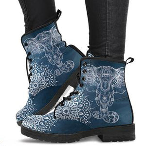 Mandala Elephant Women's Leather Boots