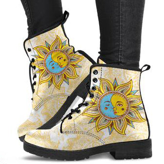 Mandala Sun Moon Women's Leather Boots
