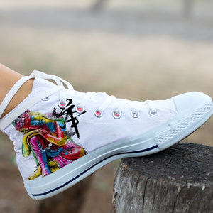 Abstract Buddha High Tops