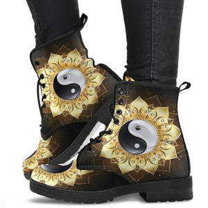 Mandala YinYang Women's Leather Boots