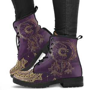 Moon Dream Catcher Gold Women's Leather Boots