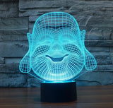 3D Buddha LED Lamp - Hilltop Apparel - 1