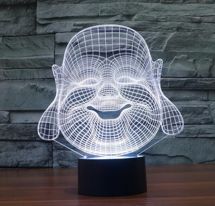 3D Buddha LED Lamp - Hilltop Apparel - 2