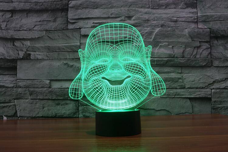 3D Buddha LED Lamp - Hilltop Apparel - 3