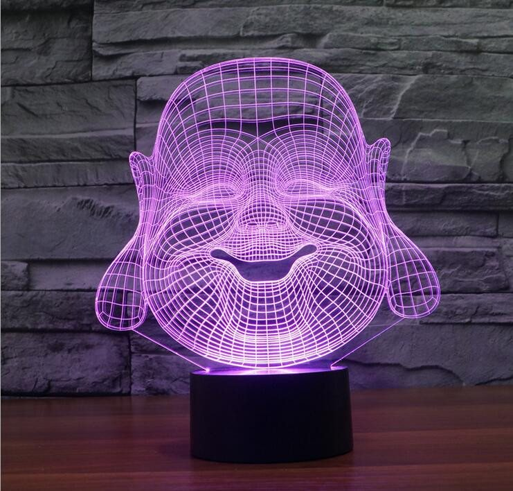 3D Buddha LED Lamp - Hilltop Apparel - 5