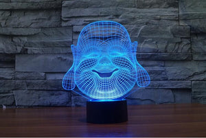 3D Buddha LED Lamp - Hilltop Apparel - 6