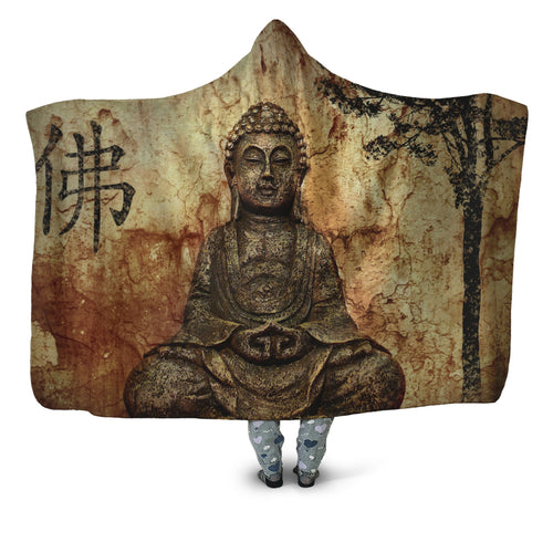 Zen Buddha Hooded Blanket