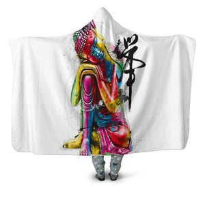 Abstract Buddha Hooded Blanket