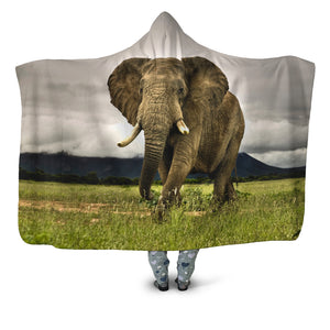 Majestic Elephant Hooded Blanket