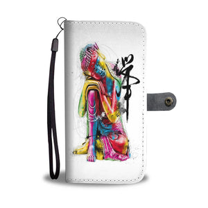 Abstract Buddha Wallet Phone Case