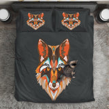 Abstract Wolf Bedding Set