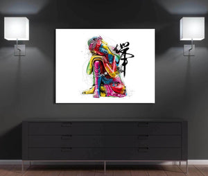Abstract Buddha Canvas Wall Art