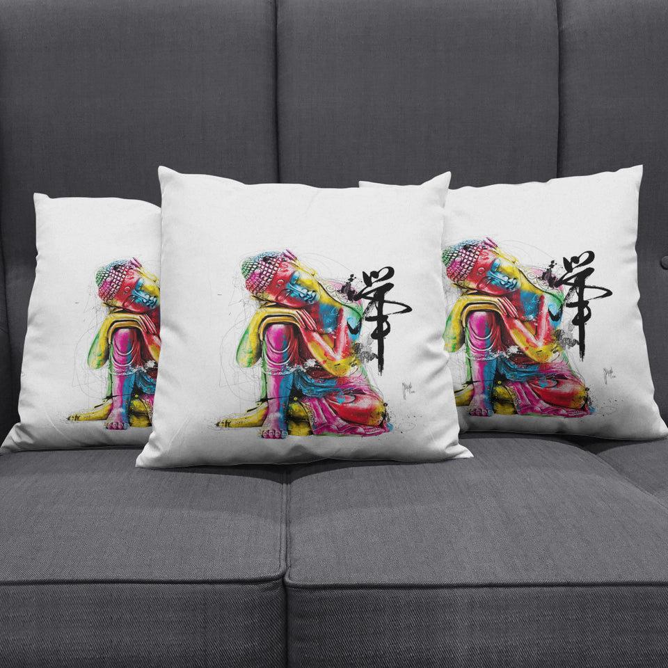 Abstract Buddha Pillow Cover