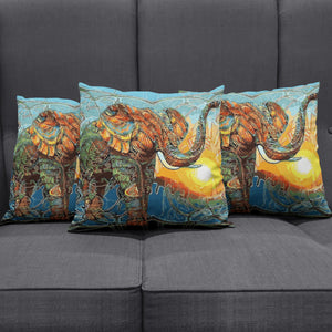 Abstract Colorful Elephant Pillow Cover