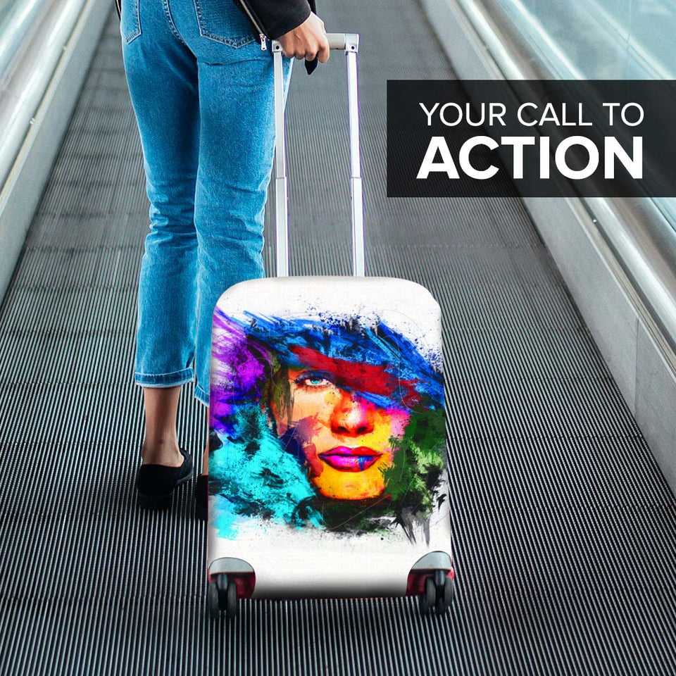 Abstract Face Luggage Cover