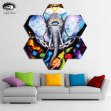Abstract Elephant Canvas Wall Art by Pixie Cold
