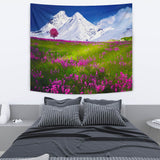 TAPESTRY WILD FLOWERS SNOW MOUNTAIN