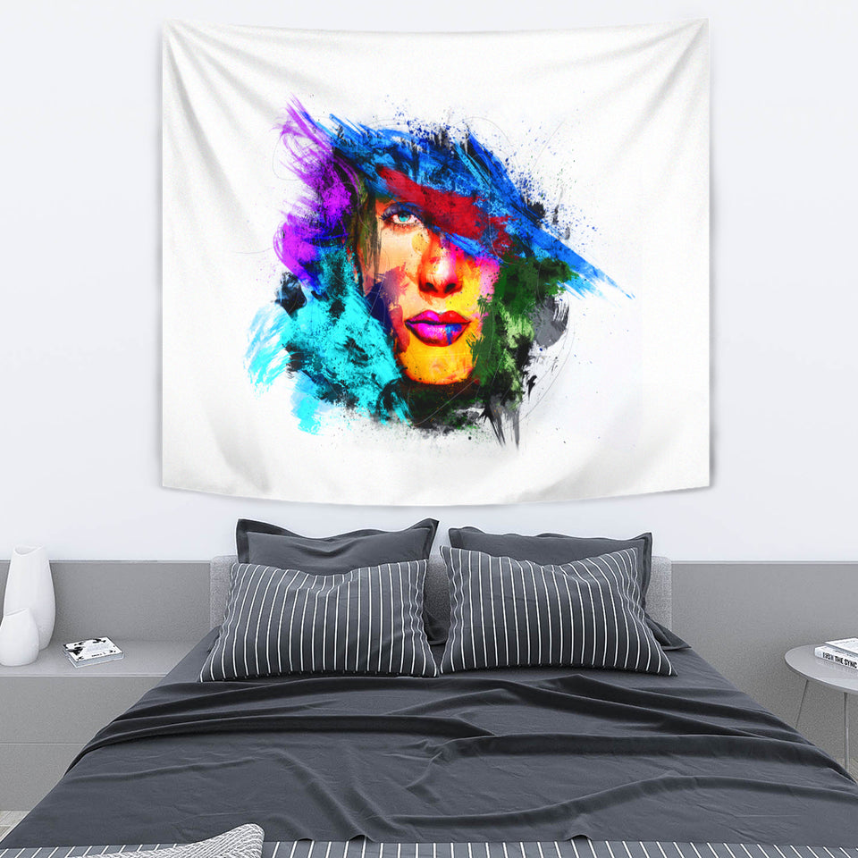Abstract Face Tapestry