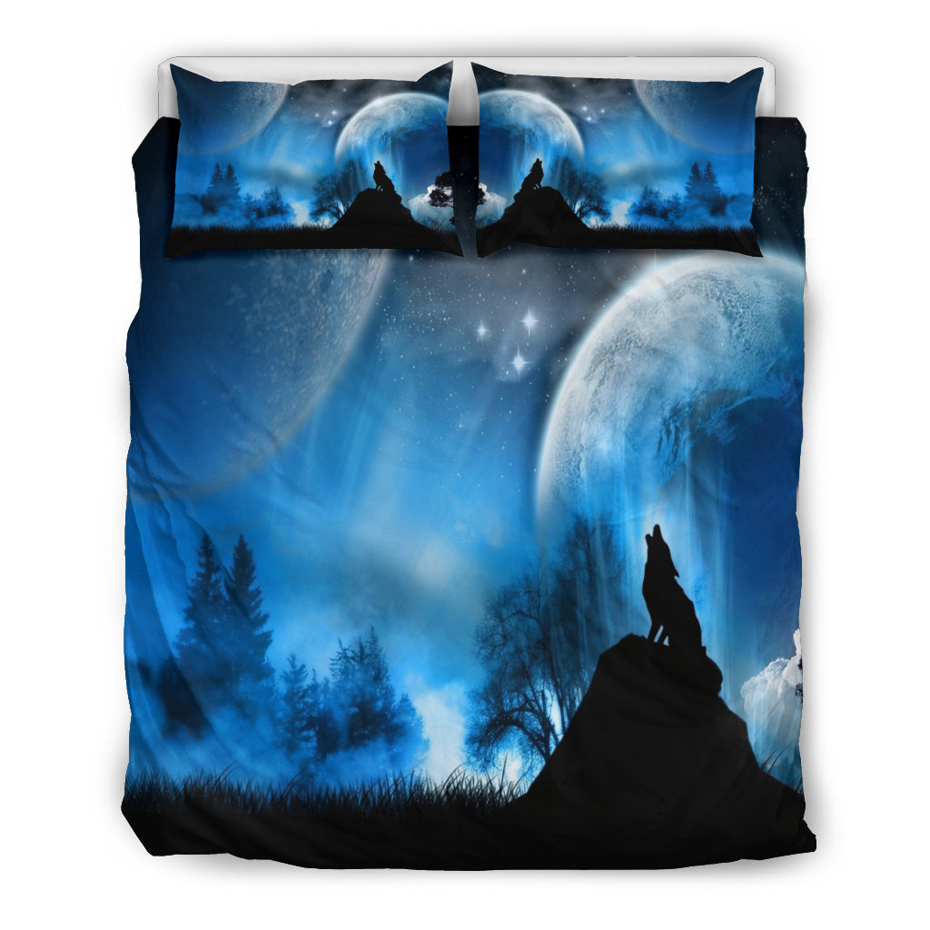 Full Moon Wolf Doona Bedding Set