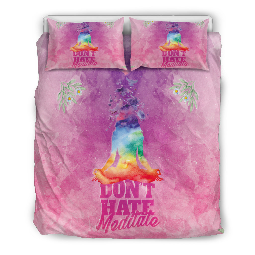 Don't Hate - Meditate Bedding Set