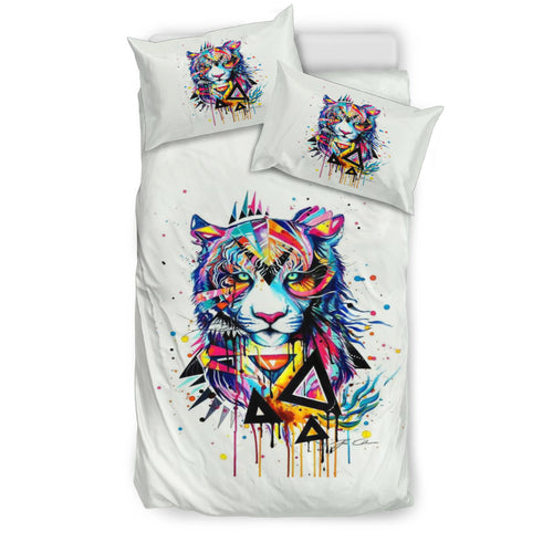 Abstract Lion Bedding Set