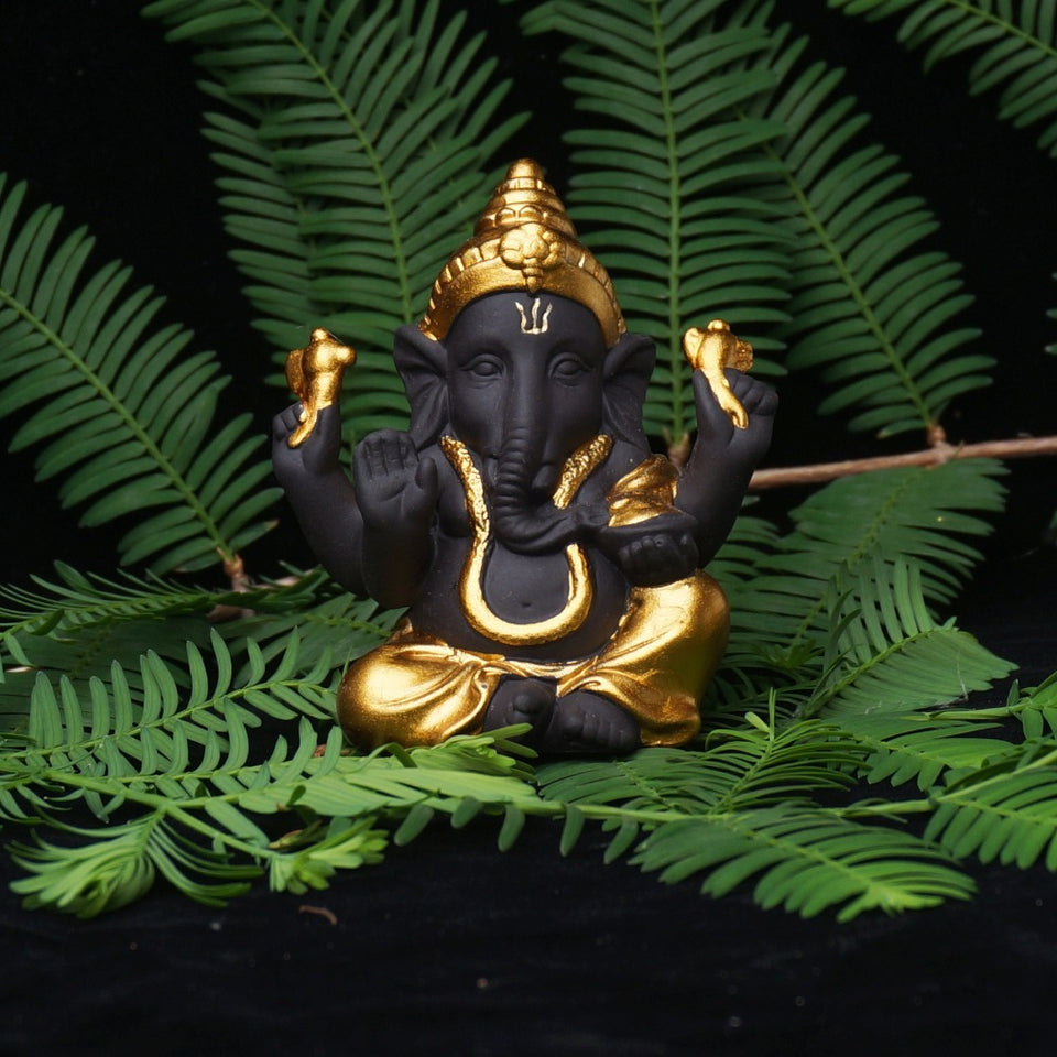 Ganesha Gold Plated Figurine
