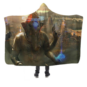 Ganesh City Hooded Blanket