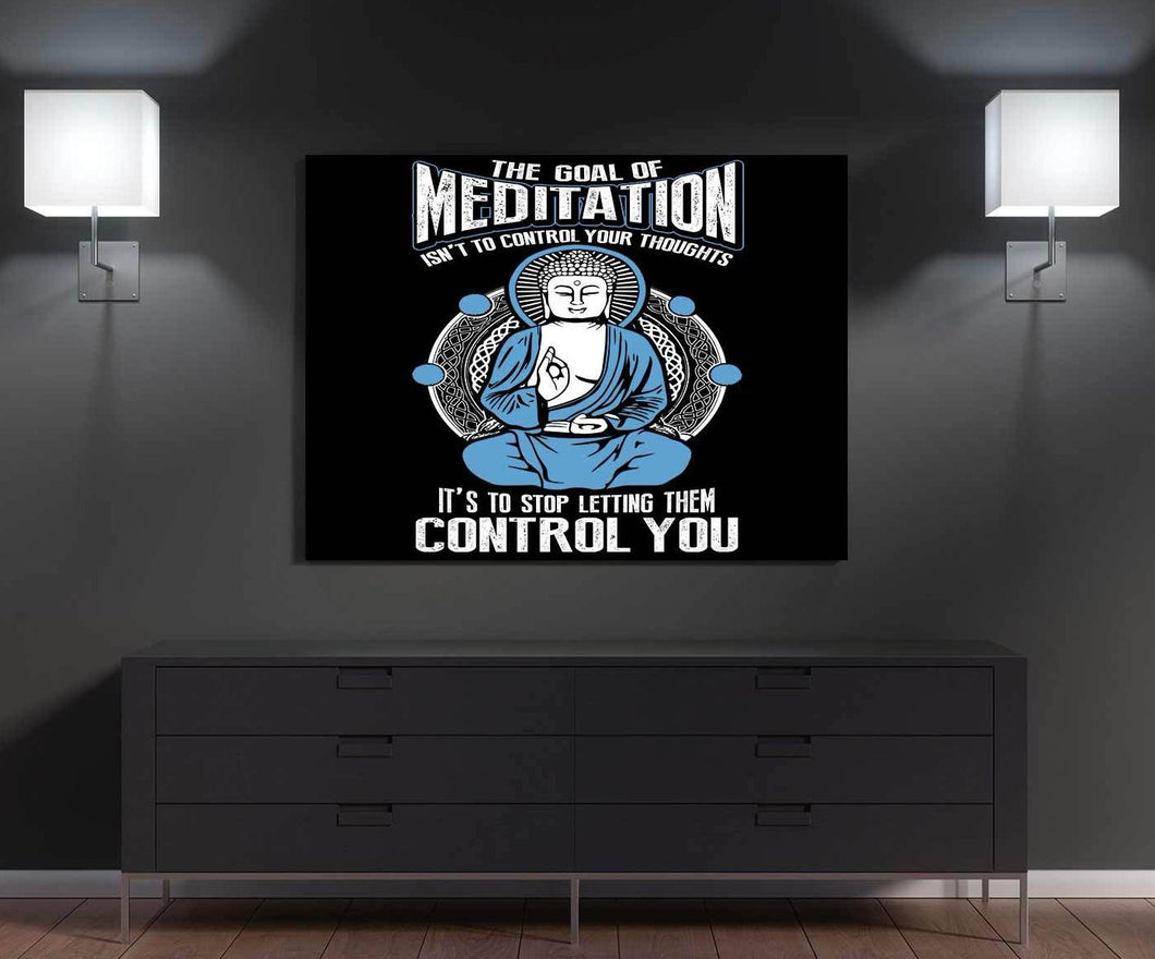 Goal Of Meditation Canvas Wall Art