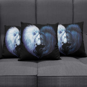 Lion Ying Yang Pillow Cover