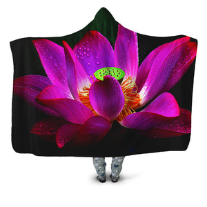 Lotus Hooded Blanket