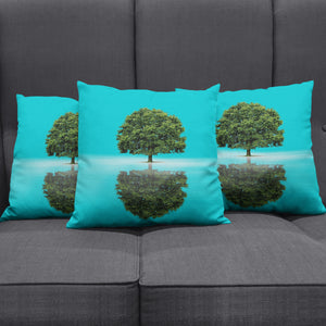 Reflection Tree Pillow Cover