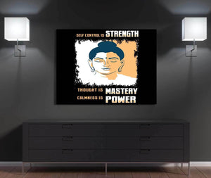 Strength, Mastery, Power Canvas Wall Art