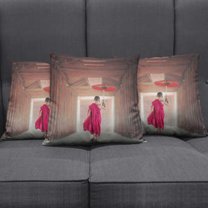 Young Monk Pillow Cover