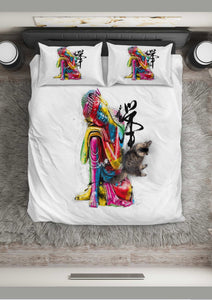 Abstract Buddha Bedding Set
