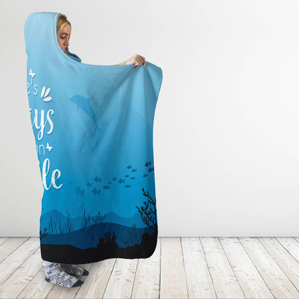 Smile Hooded Blanket