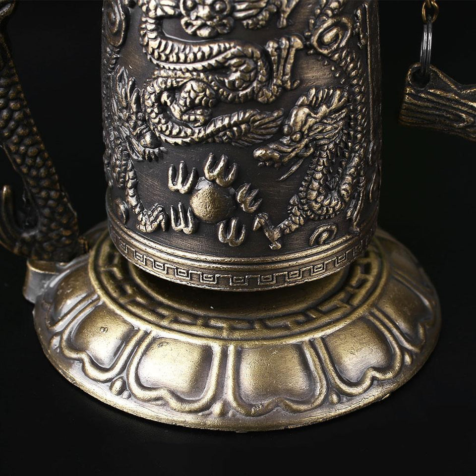 Bell - Small Tibetan Dragon Carved Buddha Bell