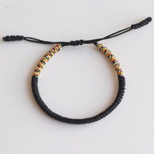 Bracelet - Multi Color Tibetan Buddhist Handmade Knots Lucky Rope Bracelet