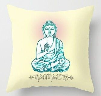 Buddha/Namaste Pillow Cover - Hilltop Apparel