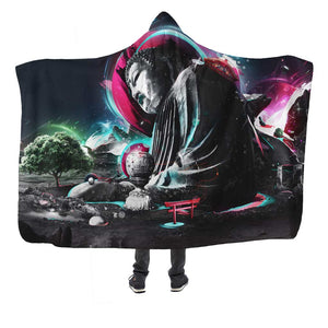 Buddha Pop Art Hooded Blanket