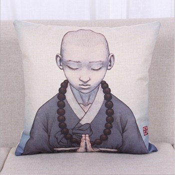 Buddhist Monk Pillow Cover - Hilltop Apparel