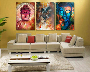 Canvas - 3 Abstract Buddha Canvas