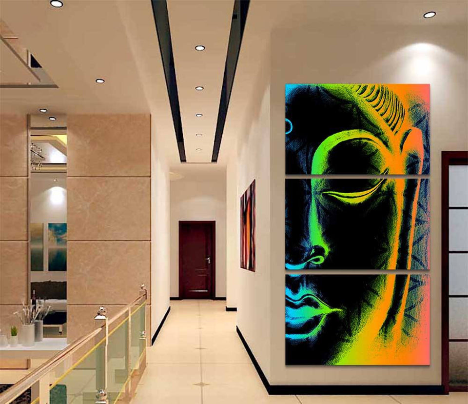 Canvas - Colorful Abstract Buddha Canvas