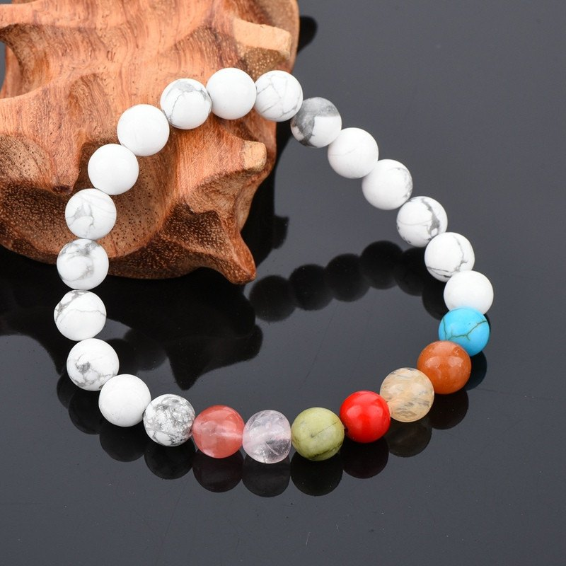 Classic White Turquoise Beads Bracelets - Hilltop Apparel - 1